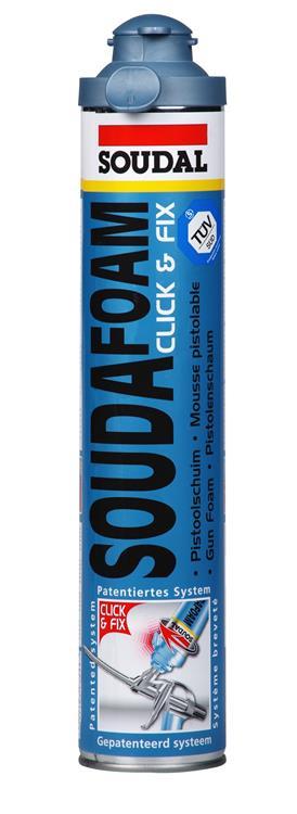SOUDAL Click & Fix pur pistoolschuim/ isolatieschuim 750 ml.
