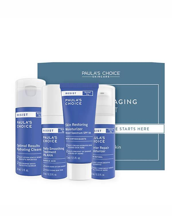 Paula's Choice - Trial Kit Resist Anti-Aging for Normal to Dry Skin - 30 ml + 10 ml + 15 ml + 10 ml