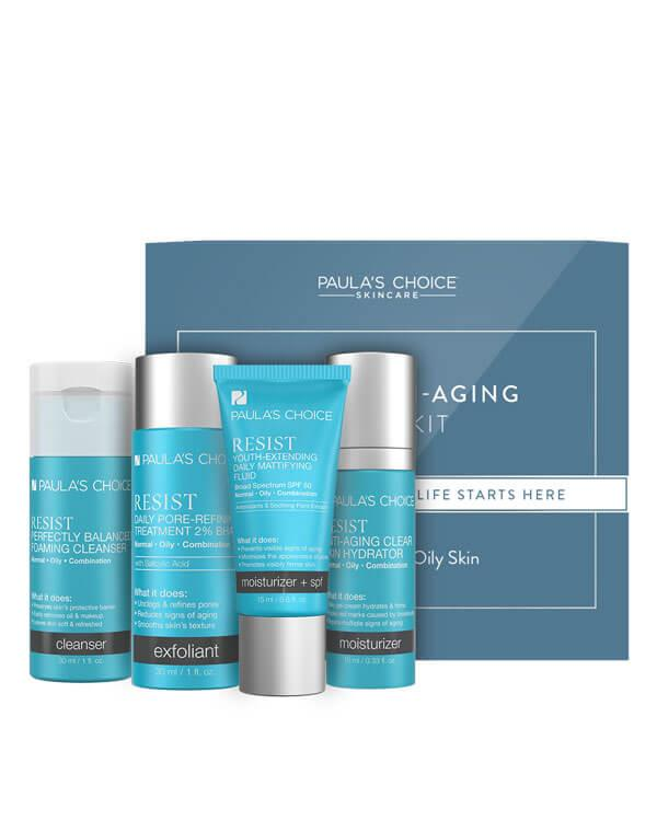 Trial Kit Resist Anti-Aging for Combination to Oily Skin - 30 ml + 30 ml + 15 ml + 10 ml