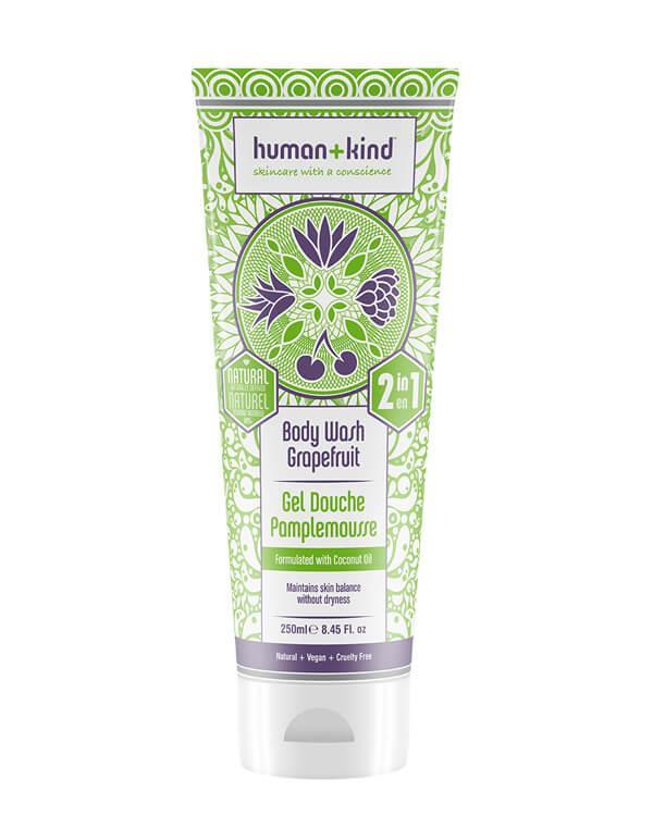 Human+Kind - All-in-One Shampoo+Body Wash Grapefruit - 250 ml