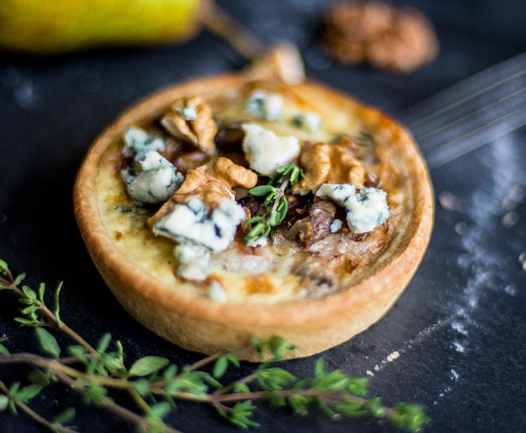 Gorgonzola, Pear & Walnut Tartlets