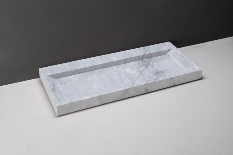 Populair Forzalaqua Wastafel Bellezza 100 x 51 cm Carrara Marmer Gepolijst MV26