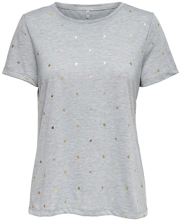 OnlSabella s/s foil aop top box jrs Light grey
