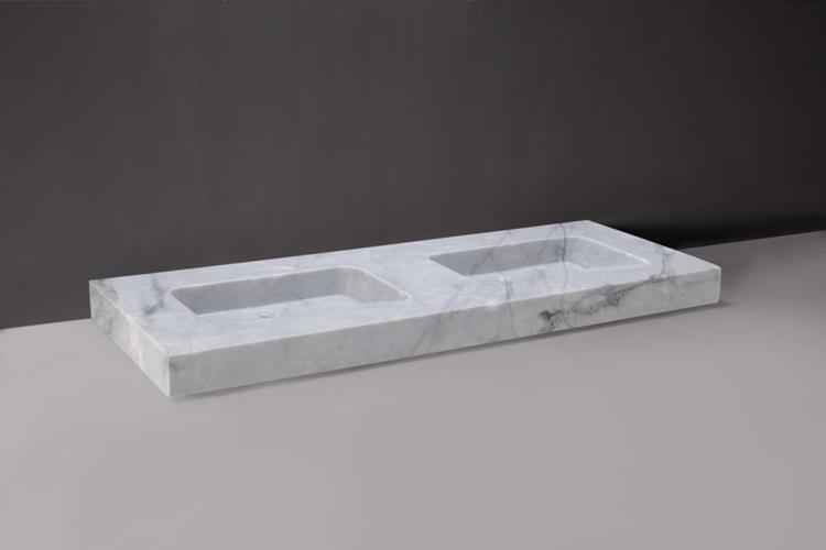 Geliefde Forzalaqua Wastafel Napoli 160 x 60 cm Carrara Marmer Gepolijst CO48