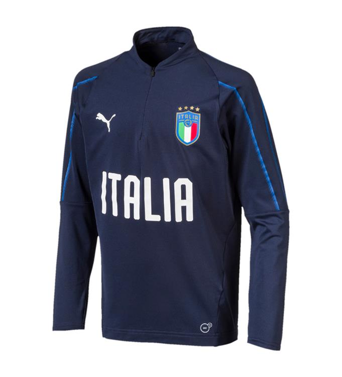 Puma FIGC Italia 1/4 Zip Training Top Jr '17 - '18
