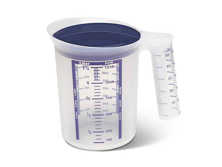 Emsa Superline mix/maatbeker met deksel 1.25 L