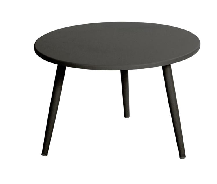 Poppac bijzettafel rond 60 cm - zwart