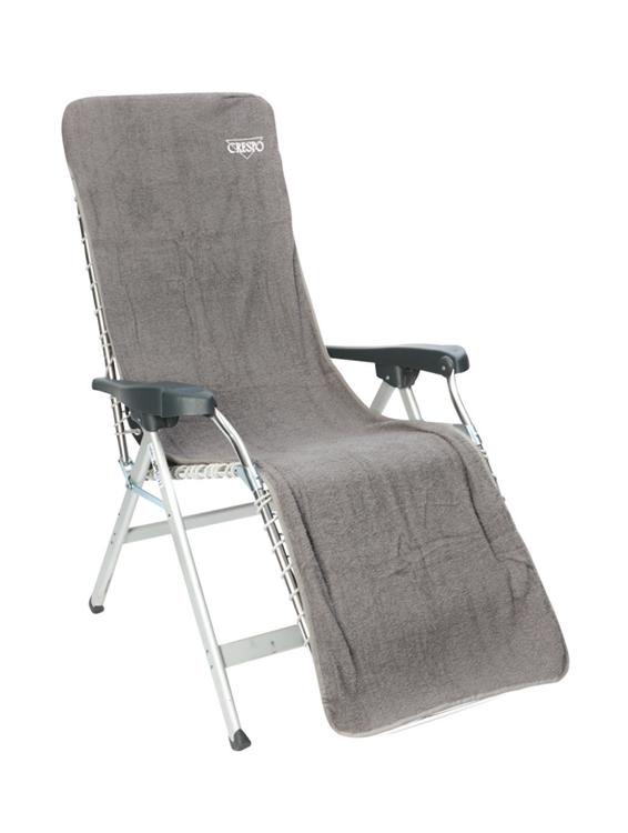 Crespo - Badstof stoelhoes L - Relaxstoelen - 200x58 cm - Grijs