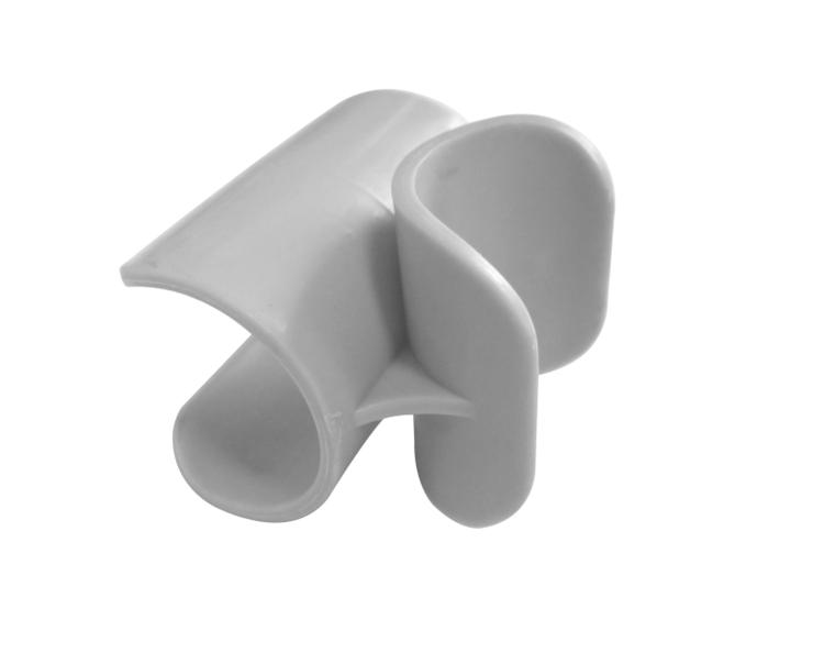 Crespo kunststof clip voor voetensteun - 4 stuks