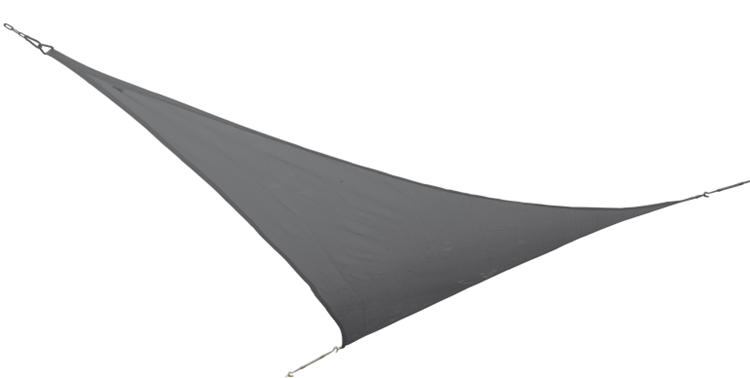 Bo-Camp - Schaduwdoek - Driehoek - 3,6x3,6x3,6 Meter - Antraciet
