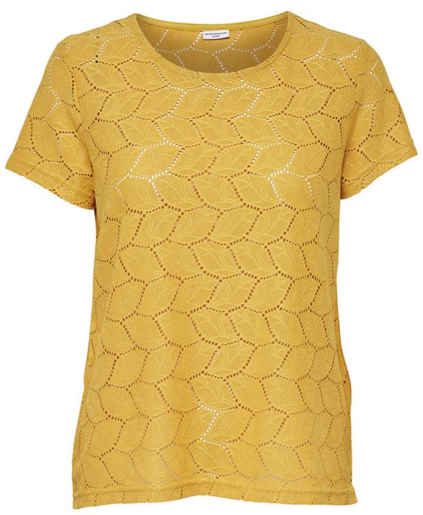 Jdytag s/s lace top jrs prt 2 Spicy mustard