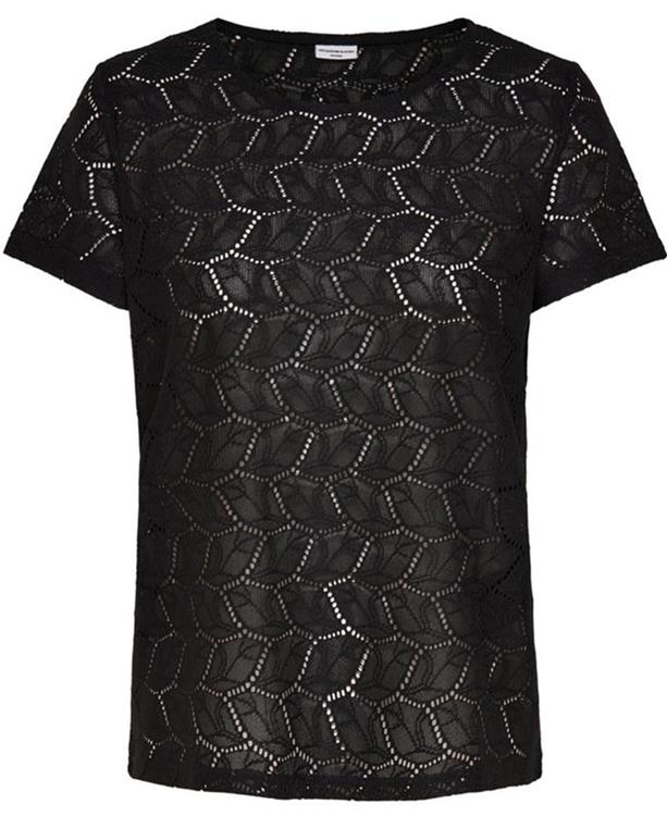 Jdytag s/s lace top jrs prt 2 Black