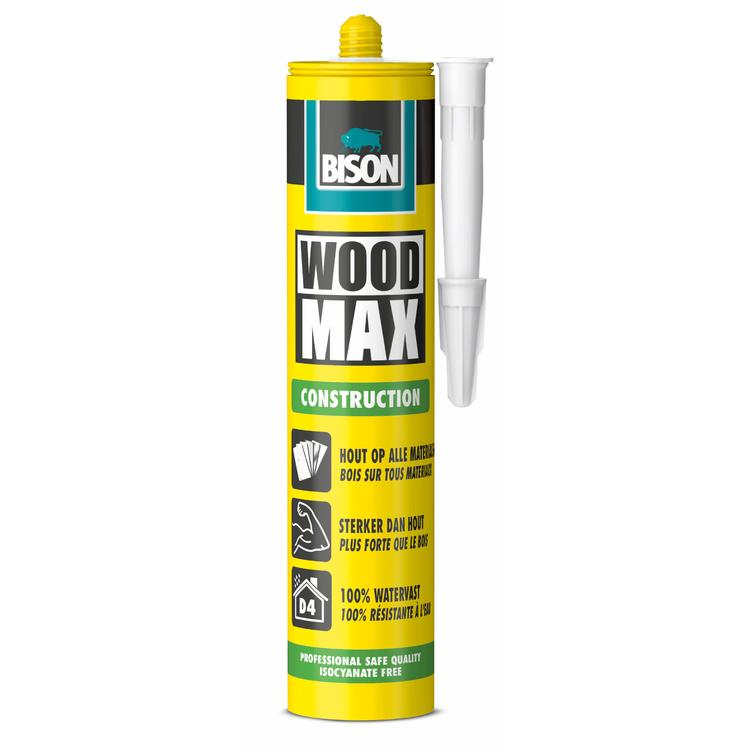 BISON PROF Hout Max/ Wood Max constructielijm D4 380 gr