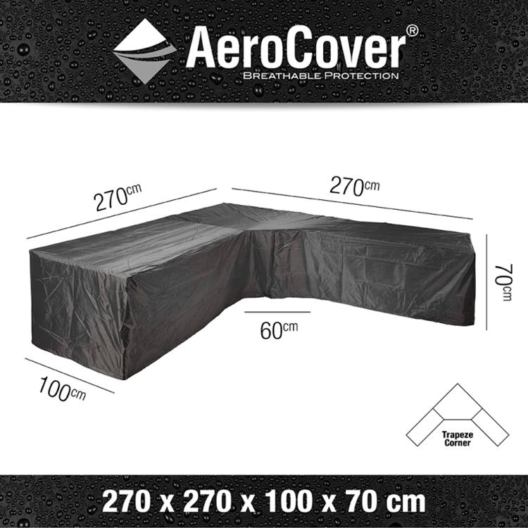 AeroCover Beschermhoes 270x270 cm L-vorm