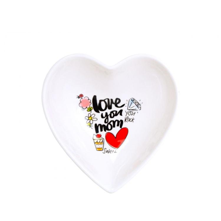 Blond Amsterdam Schaal Hart Love You Mom - 16,5 CM