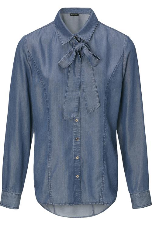 Blouse Strik Denim Blauw