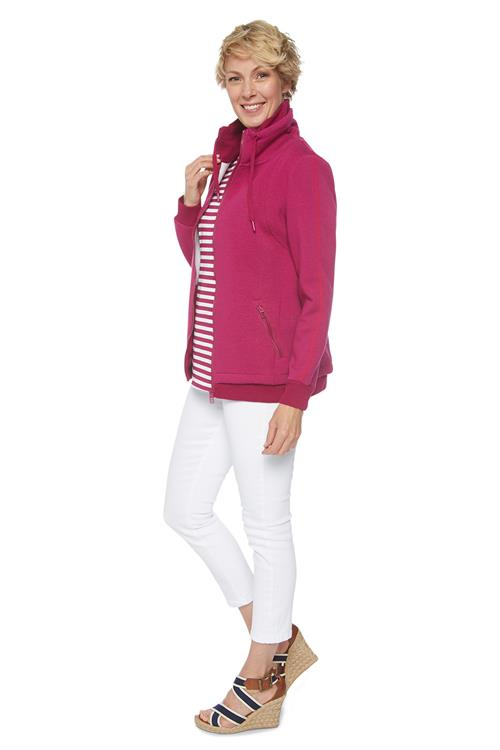 Cecil Athleisure Sweatjack Rits Roze