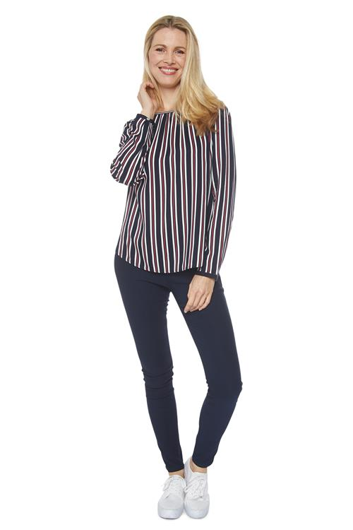 Street One Blouse Strepen Donkerblauw