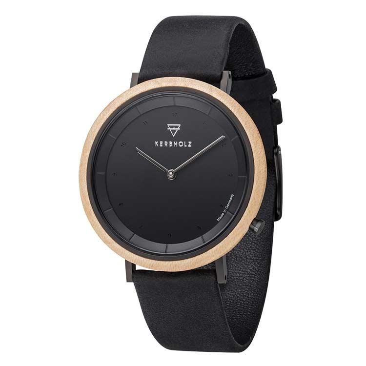 Kerbholz horloge Slim Midnight Maple