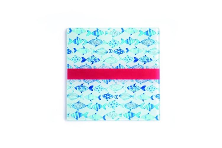 Abodee Onderzetter glas set/4 - Fish