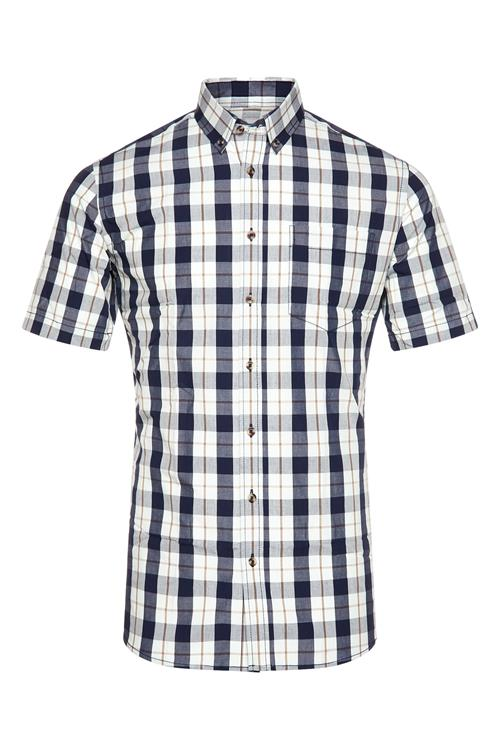 Ruiten Heren Miller Mouw Overhemd Korte Patroon Blauw amp;monroe 6fI7bgYyv