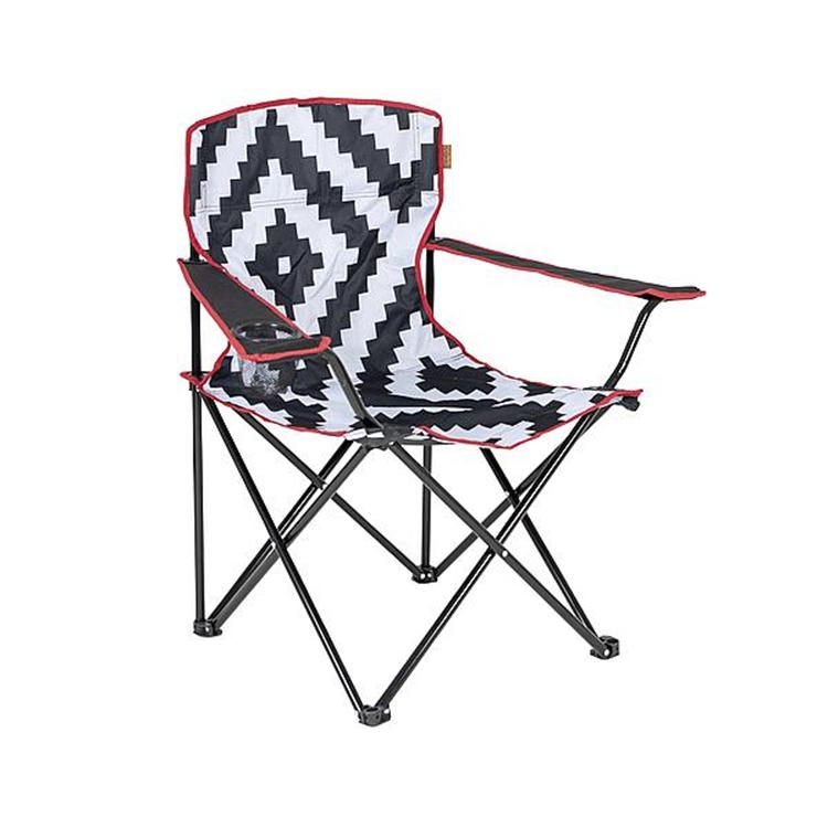 Bo-Camp - Urban Outdoor - Vouwstoel - Madison - Zwart/Wit