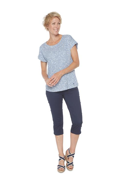 Tom Tailor Women T-shirt Gestreept Blauw