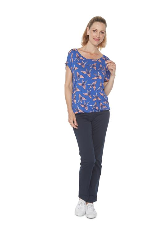 Tom Tailor Women Top Floral Print Blauw