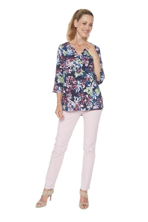 Cecil Blouse Floral Donker Blauw