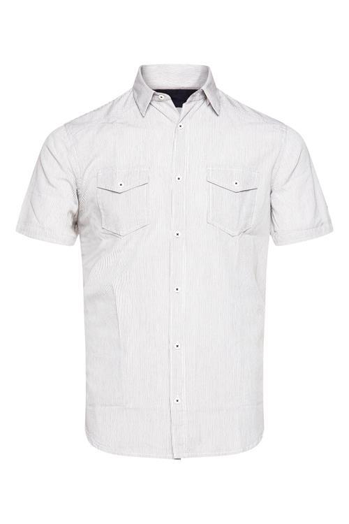 Overhemd Wit Korte Mouw.Overhemd Korte Mouw Gestreept