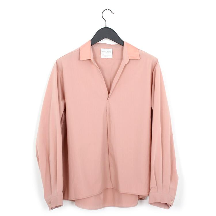 Forte Forte cotton popline and satin shirt rosa
