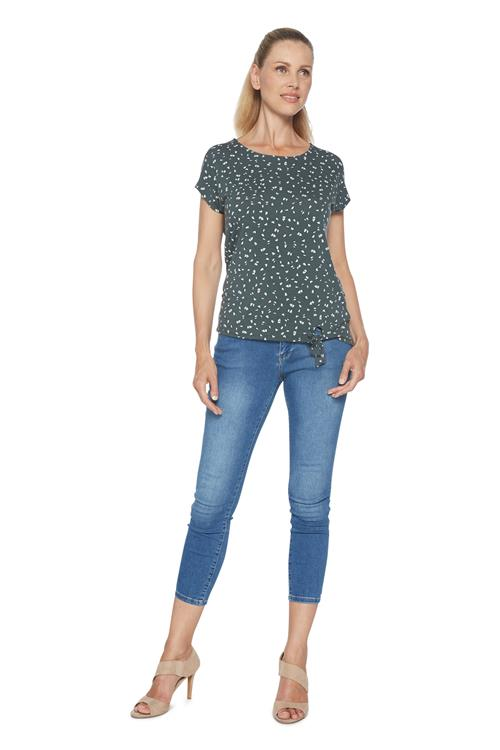 Street One Top Butterfly Print Groen