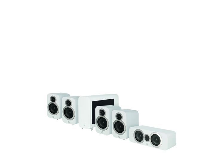 Q Acoustics Q3010i Series 5.1 Cinema pakket Wit