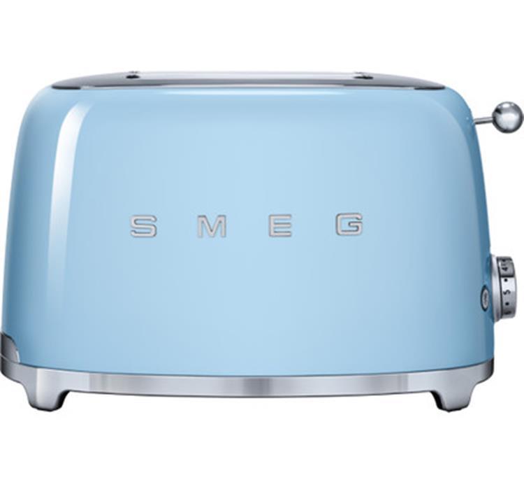 SMEG Broodrooster 2x2 TSF01PBEU - Pastelblauw