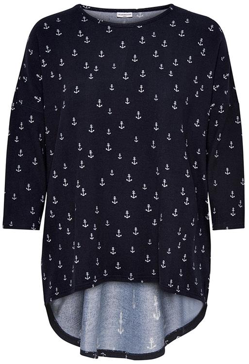 Jdywinner 3/4 aop top Navy blazer/Anchor