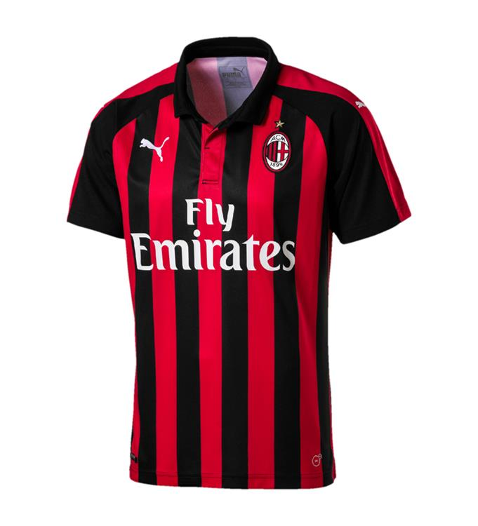 Puma AC Milan HOME Shirt Replica SS with Sponsor Logo