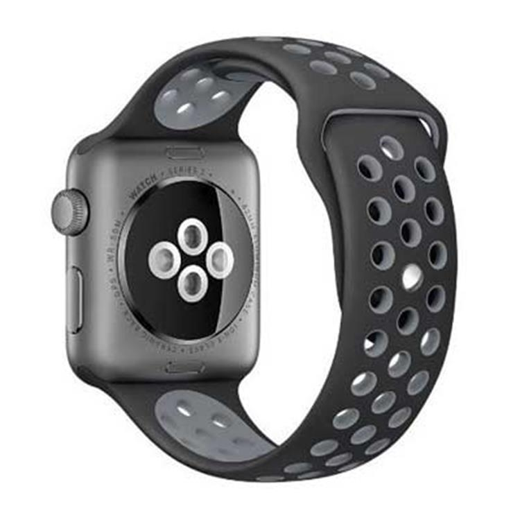 Apple watch 42mm horlogeband zwart-grijs