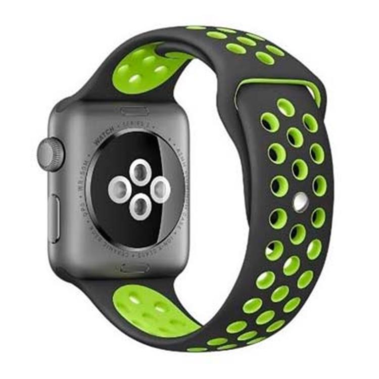 Apple watch 42mm horlogeband zwart-groen