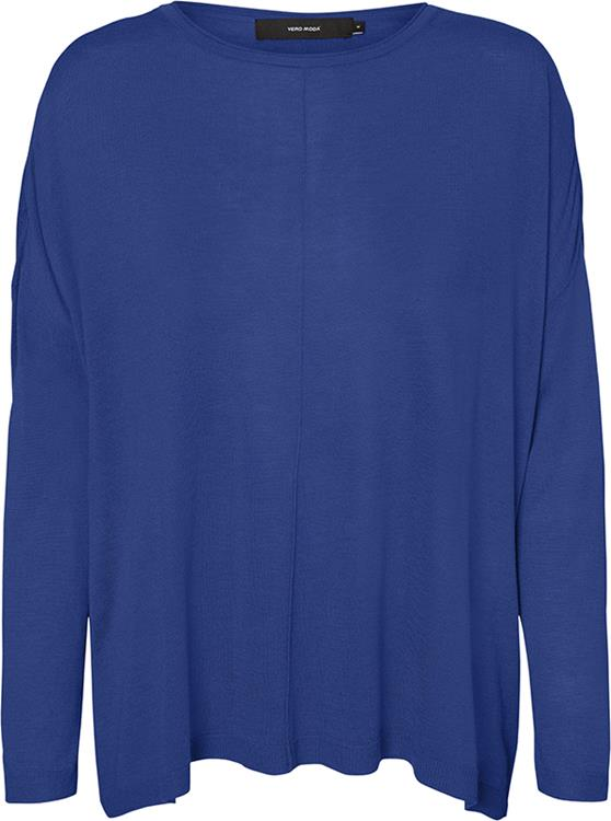 Vmellie ls boatneck linking blouse Mazarine Blue