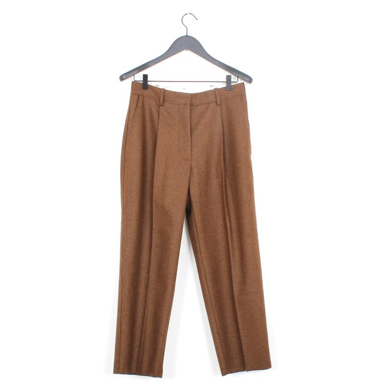 Acne Studios flannel trousers caramel brown