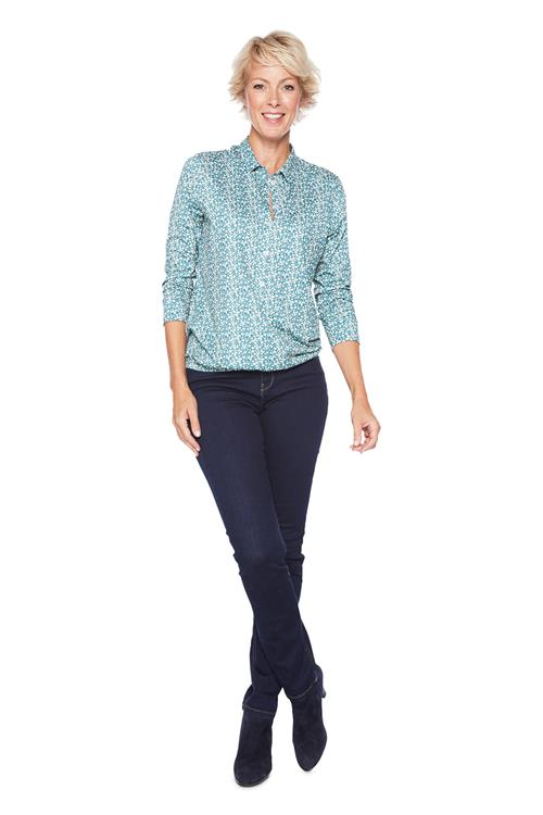 Blouse All Over Print Blauw