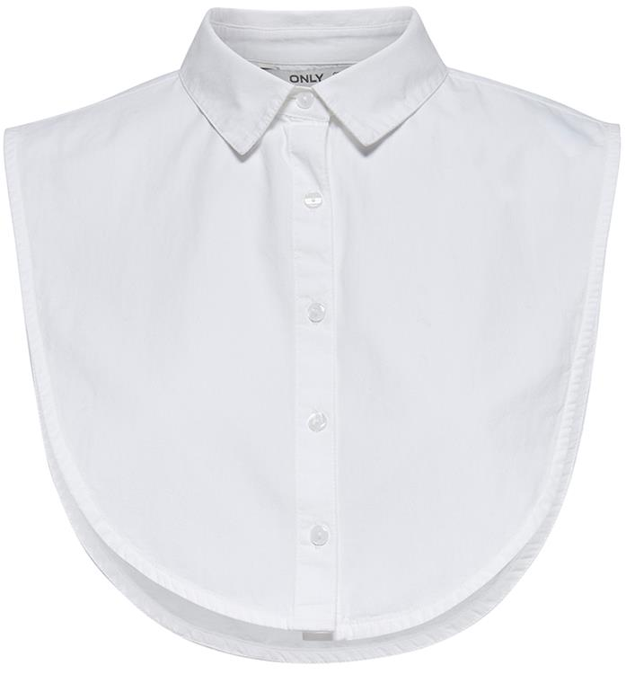 Onlshelly weaved collar acc Bright white