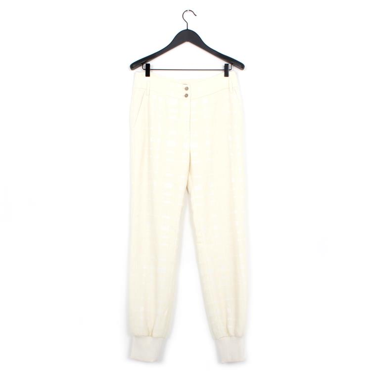 Nehera precin trousers graphic boucle ivory