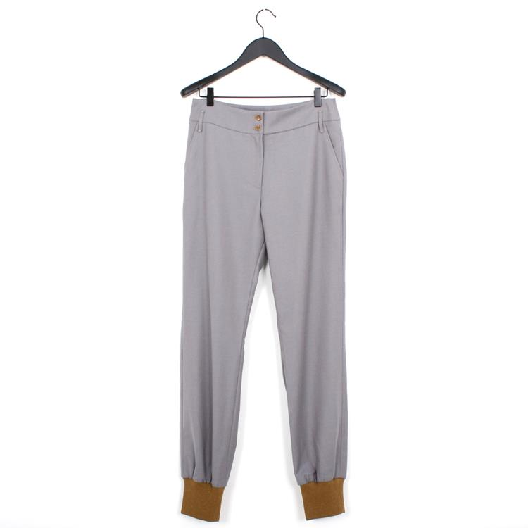 Nehera precin trousers cotton wool twill grey beige