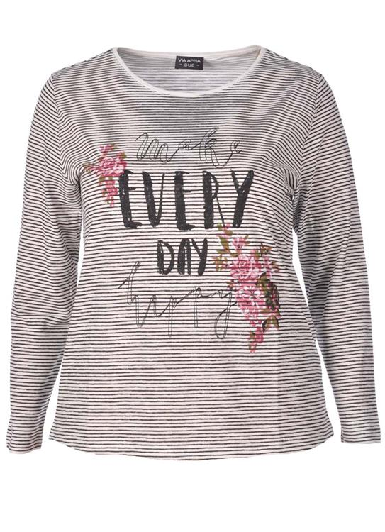 Via Appia Due shirt 848031 Zwart