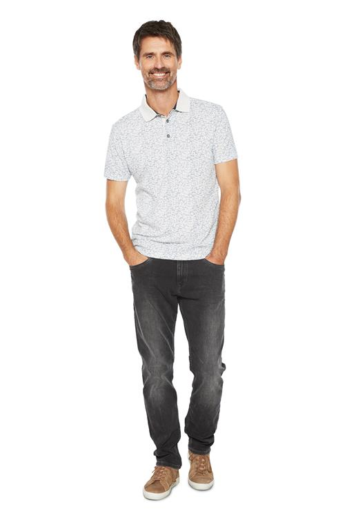 Tom Tailor Casual Polo Paisleyprint Offwhite