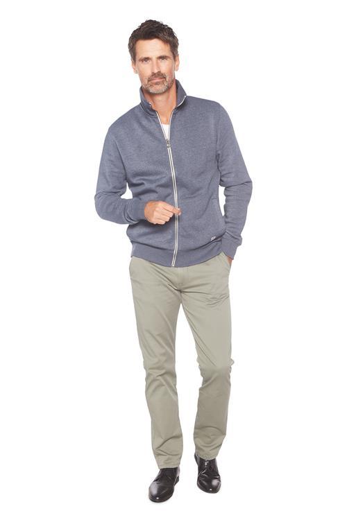 heren tom tailor casual vest met hoge kraag blauw miller monroe. Black Bedroom Furniture Sets. Home Design Ideas