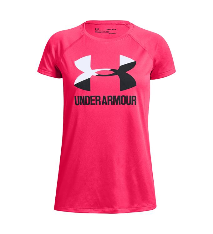 Under Armour Big Logo Tee Solid SS-PNK