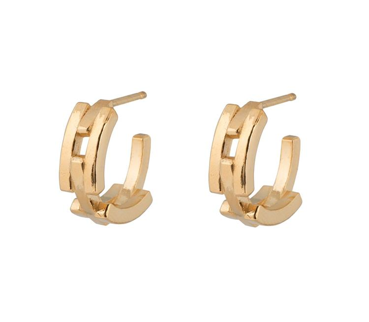 Wouters & Hendrix chunky hoop earrings with chain detail