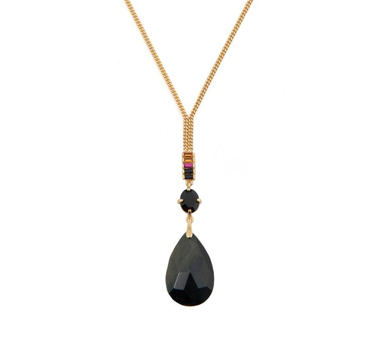 Wouters & Hendrix necklace with blue tiger eye pendant